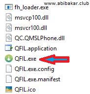 Click QFIL