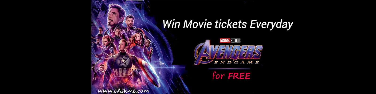 Free Movie tickets Avengers End Game
