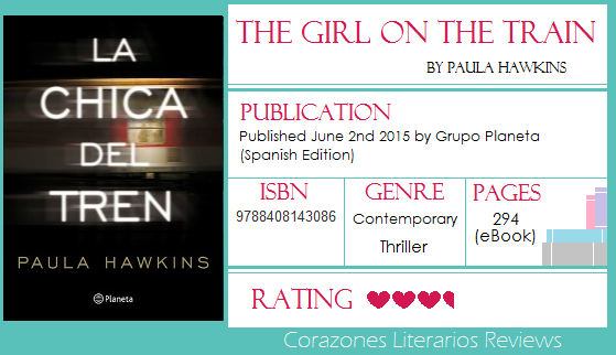 #BookReview: The Girl on The Train by Paula Hawkins