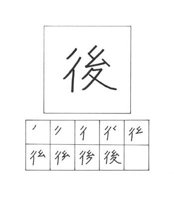 kanji di belakang