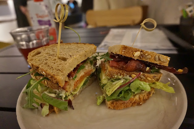 Friday Next Amsterdam - bacon, lettuce, avocado and tomato sandwich