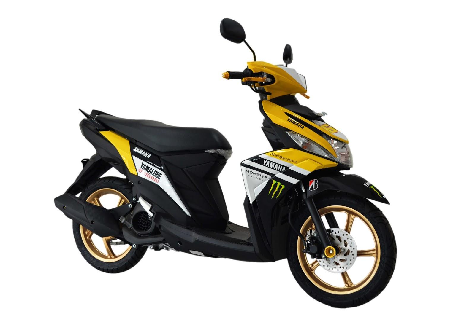 Yamaha Mio M3 125 Blue Core Custom Kuning Putih