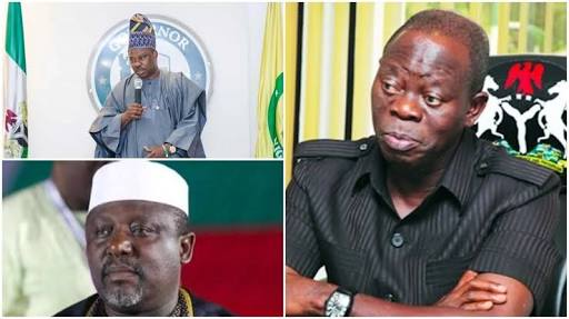 APC National Headquarters In Controversy On It Moves  To Punish Amosun, Okorocha