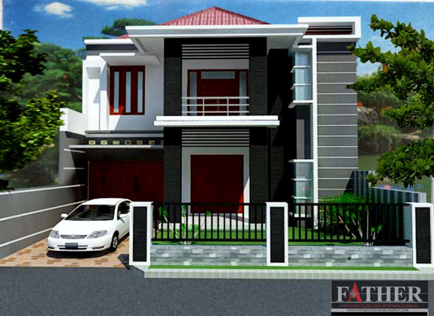 Kumpulan Gambar Rumah Minimalis 2 Lantai Dekorasi Rumah 123