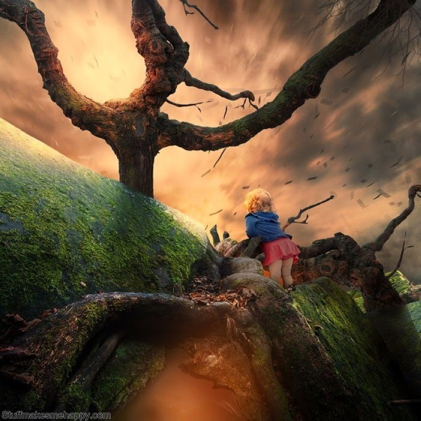 The Lovely Dreams into Reality: Spectacular Photo Illustrations by Caras Ionut