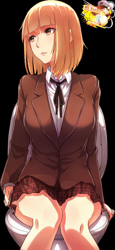 Tags: Anime, Render,  Kangoku Gakuen,  Midorikawa Hana,  Prison School,  Skirt, PNG, Image, Picture