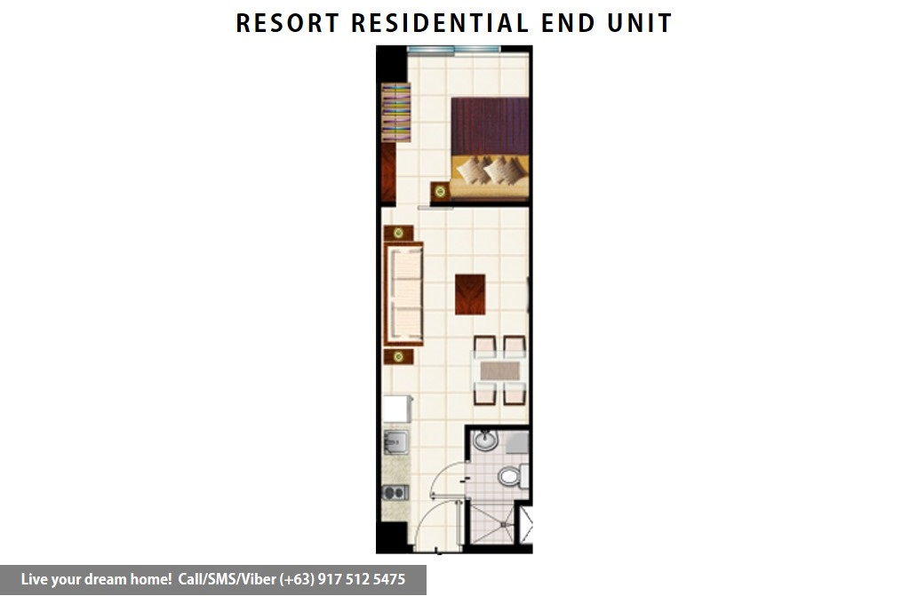 Floor Plan of SMDC Wind Residences - Resort Residential End Unit 1 | Condominium for Sale Tagaytay Cavite