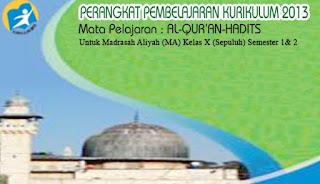 File Pendidikan RPP Al Quran Hadis Kls X MA K-13 Lengkap dengan Perangkat Gratis Download