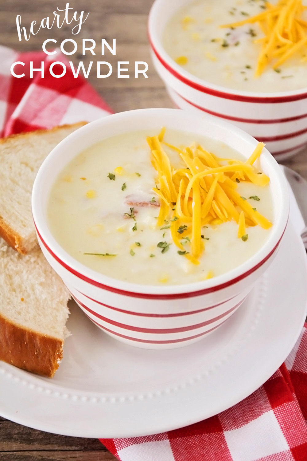 This savory and hearty corn chowder is so delicious and perfect for a chilly evening!