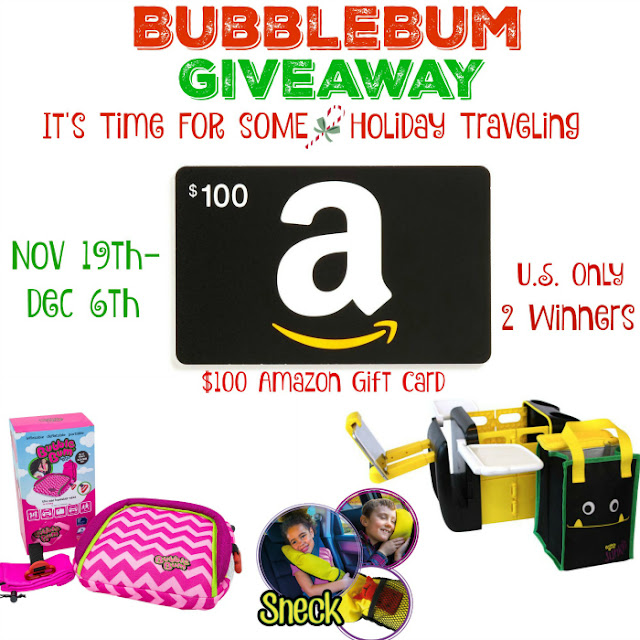Travel Safer this Holiday Season: BubbleBum and $100 Amazon Gift Card Giveaway!