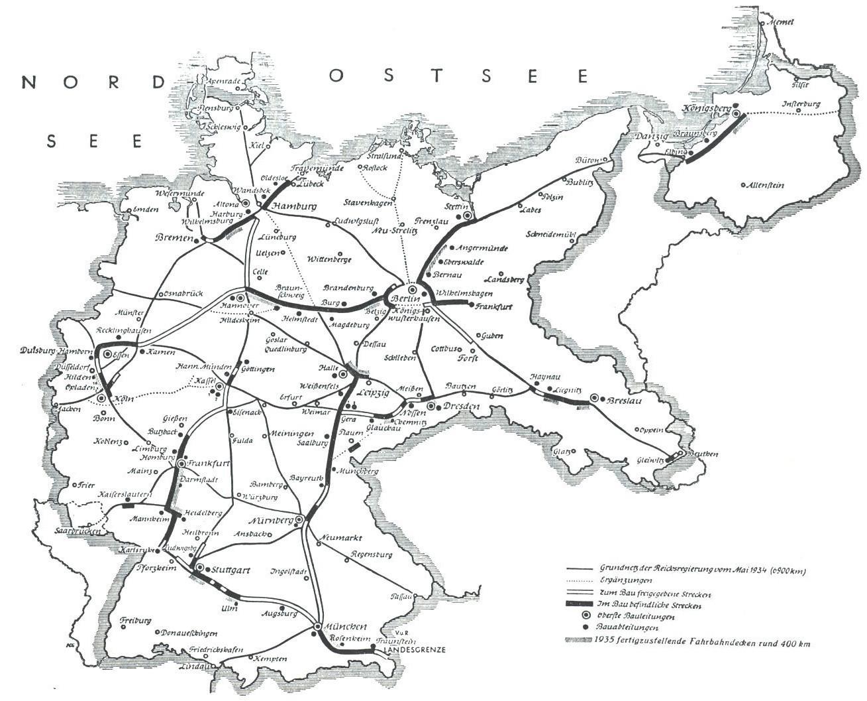 Deutschlandkarte Blog Deutschlandkarte Von 1935 Zeigt Die In Bau