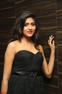 Shalu Chourasiya in spicy Sleeveless Strapless Black Top at O Pilla Nee Valla Movie Audio Launch Feb 2017 107.JPG