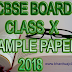 CBSE CLASS 10 SAMPLE PAPER 2018 WITH SOLUTIONS IN PDF