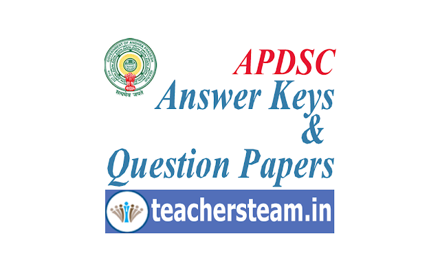 APDSC Answer Keys and Question Papers