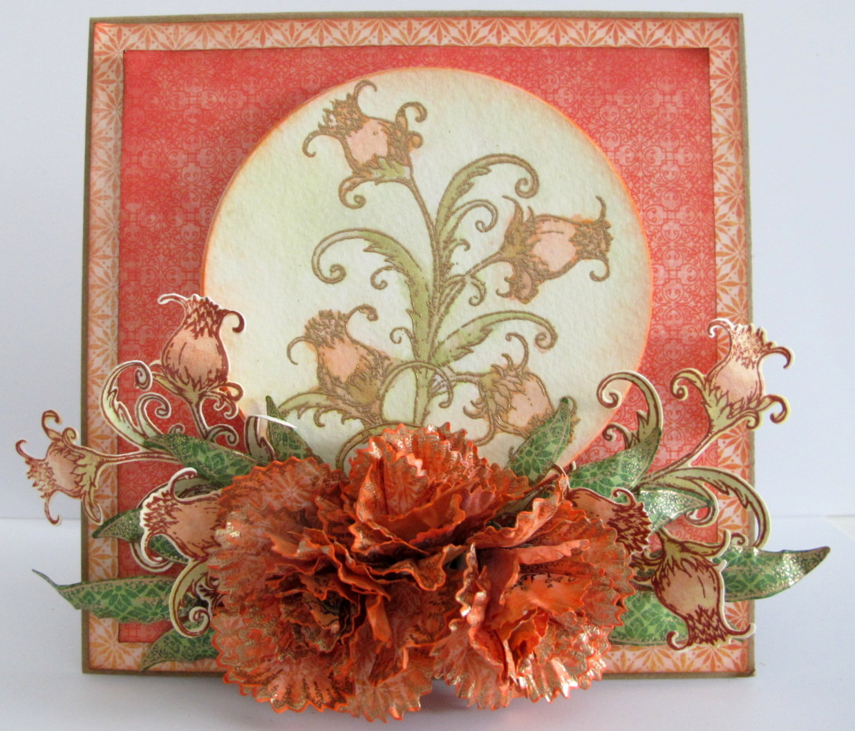 3806 Heartfelt Creations Stamp /& Die Combo ~ SMALL CAMELIA CARNATION -7164