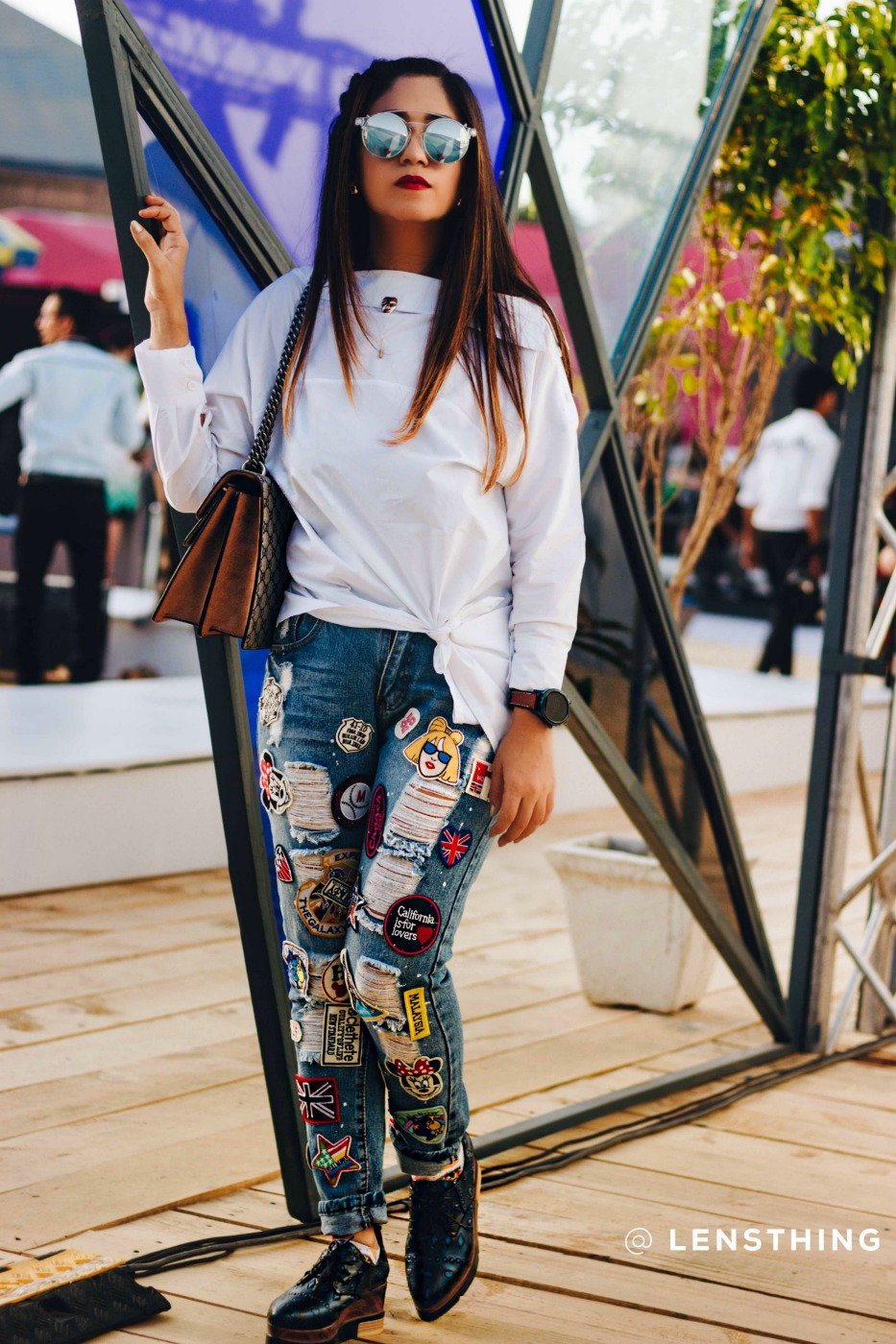 how to patch jeans aifwss17 street style elle femina