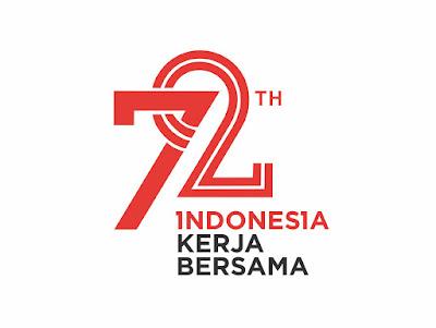 Free Download Gratis Logo Vektor HUT Kemerdekaan Indonesia RI ke 72 Format Vektor | mazjit99 | blankon-ku | www.mazjit99.com