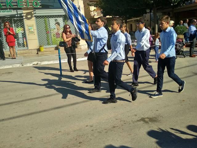 Καταθέσεις και παρέλαση στο Δρέπανο για την επέτειο της 28ης Οκτωβρίου