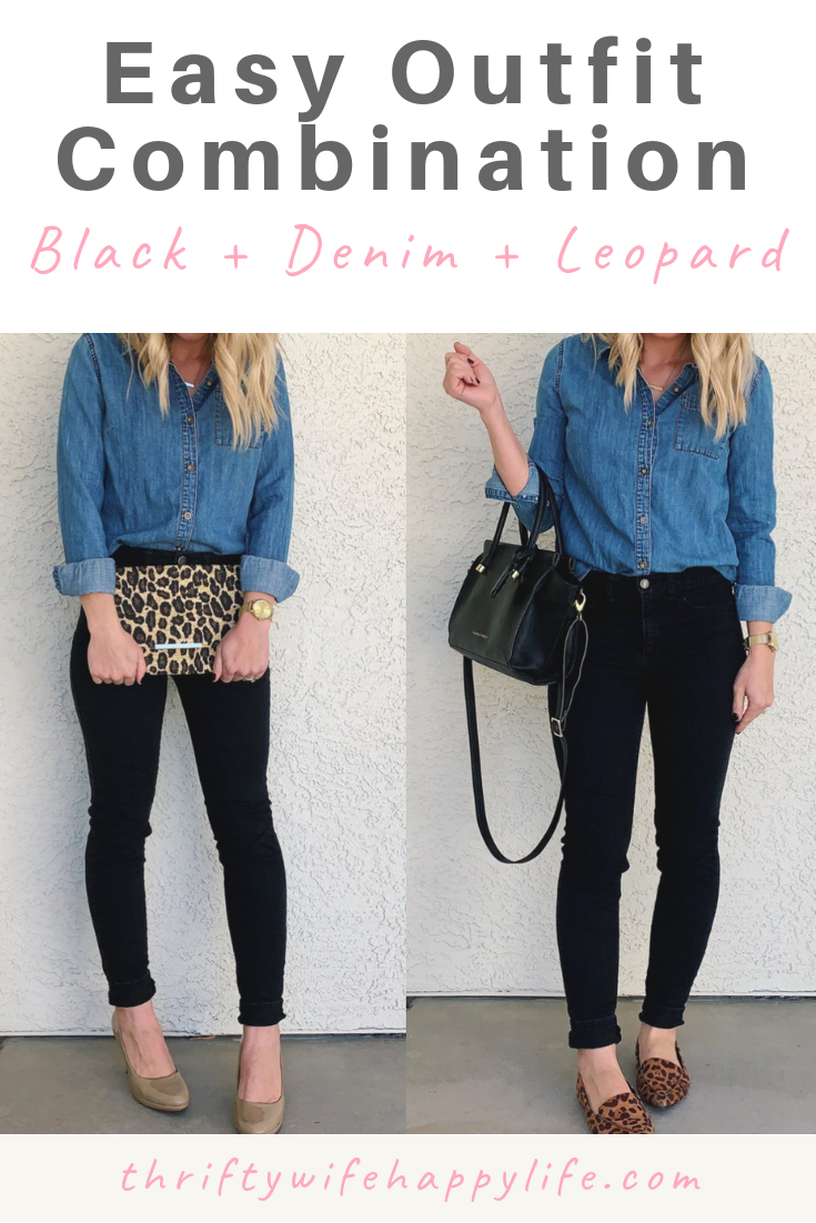 0d11ad5c065f Easy Outfit Combination- Black + Denim + Leopard