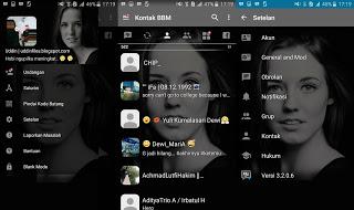 BBM MOD Transparan Tema Artis v3.2.0.6 APK Terbaru
