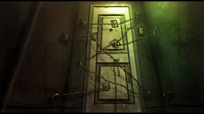 Intriguing Personality Test Which Door Scares You The Most - Chained door