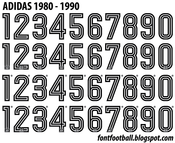 FONT FOOTBALL: Font Vector Adidas World Cup 1980 1981 1982 1983 1984