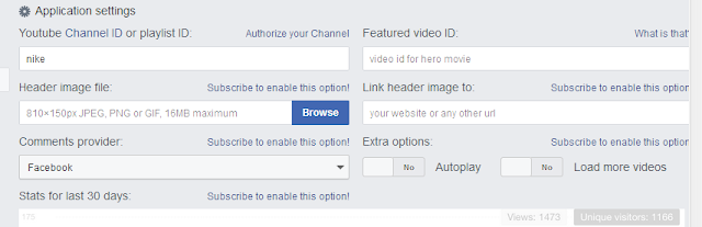 konfigurasi app youtube tab