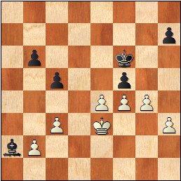 Partida de ajedrez Durao Leal vs Francino, posición después de 26.g4!