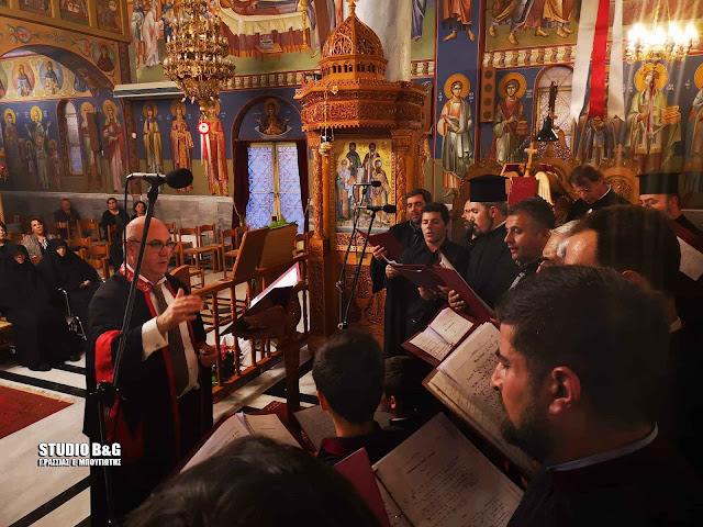 Εκκλησιαστικοί ύμνοι από τη σχολή βυζαντινής μουσικής της Ι.Μ Αργολίδας στην Αγία Ειρήνη Νέας ΚΊου