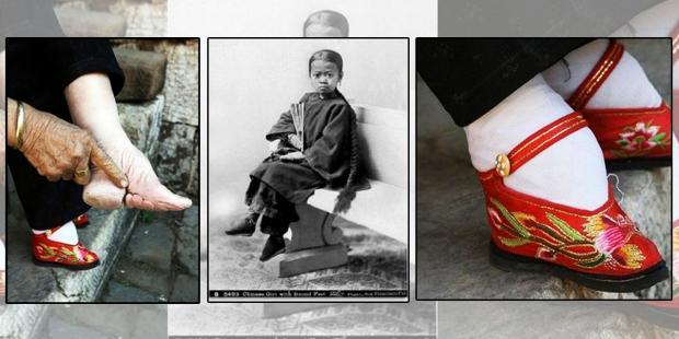 tradisi mengikat kaki hingga kaki mengecil di china