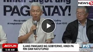 WATCH: CBCP slams Duterte Admin: Wala silang ginagawa sa problema sa druga at kahirapan.