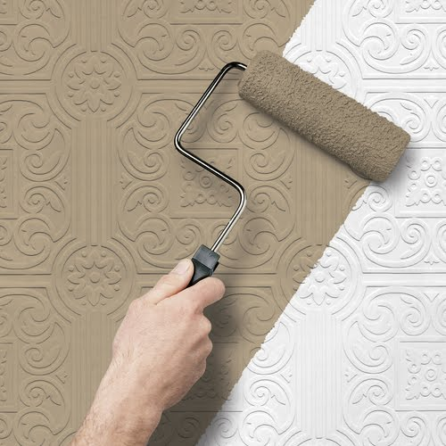 Textured paintable wallpaper - Textured wallpaper on ceiling ...