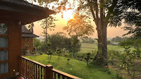 View from your private veranda at Nan Seasons Boutique Resort in Nan, North Thailand