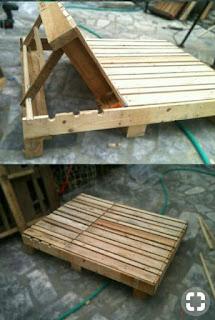 silla cama con apoya cabeza ajustable de hecho palets de madera
