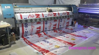 In Băng Rôn làm cờ treo quảng cáo