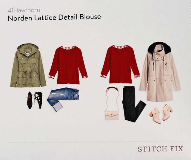 Stitch Fix 41 Hawthorn Norden Lattice Detail Blouse style card