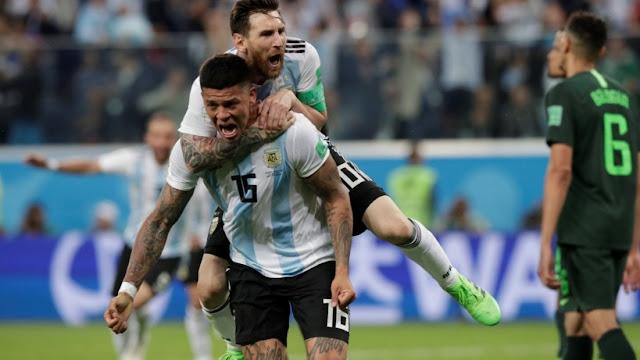 Kemenangan Argentina Berawal Dari Pesan Lionel Messi Kepada Marcos Rojo