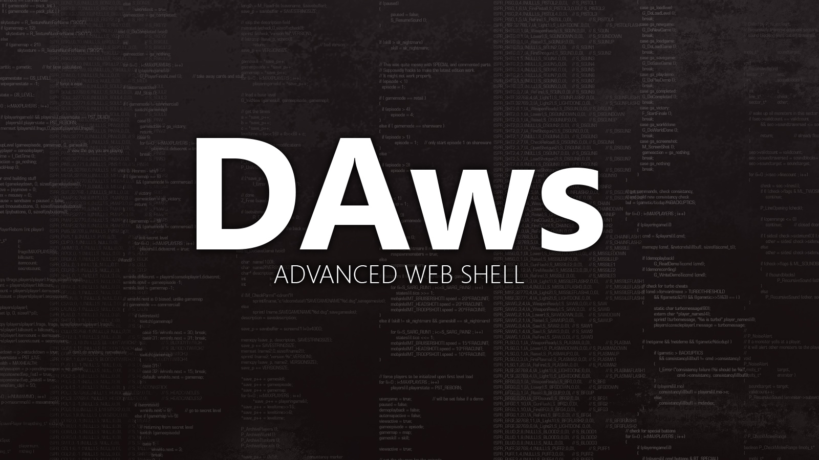 DAws - Advanced Web Shell
