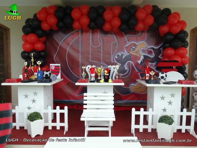 Festa infantil Flamengo, decoração de aniversário