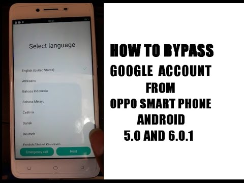 طريقه تخطى google account  لهاتف OPPO F1 Plus