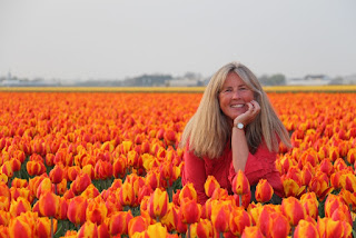 Hugs from Holland. Photograph of Janie Robinson, Travel Writer