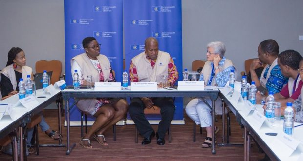Photos: Mahama engages Commonwealth observer group in Sierra Leone