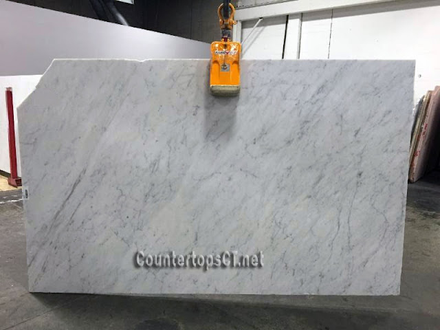 Bianco carrara honed marble slabs B