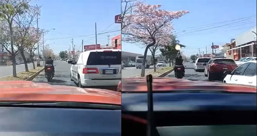 VÍDEO: Motociclista armado con cuerno de chivo lanza ráfagas de disparos durante cortejo fúnebre en Culiacán, Sinaloa