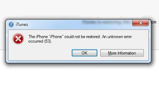 Cara Basic untuk memperbaiki Error 53 saat restore iOS