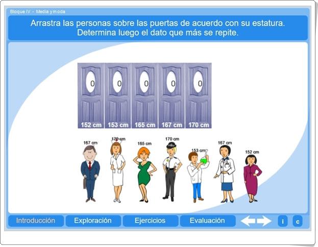 """""""Media y moda"""" (Aplicación interactiva de Matemáticas de Primaria)"""