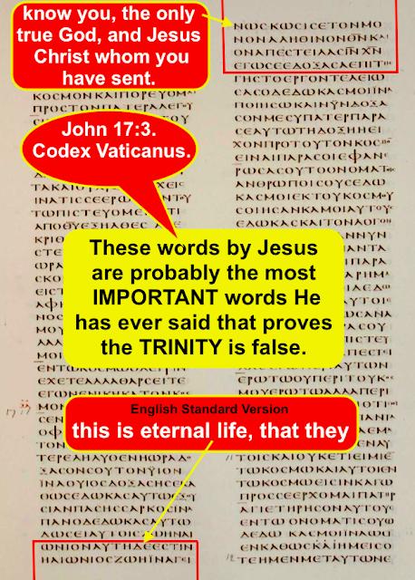 John 17:3, By Jesus PROVES GOD IS GOD ALONE.