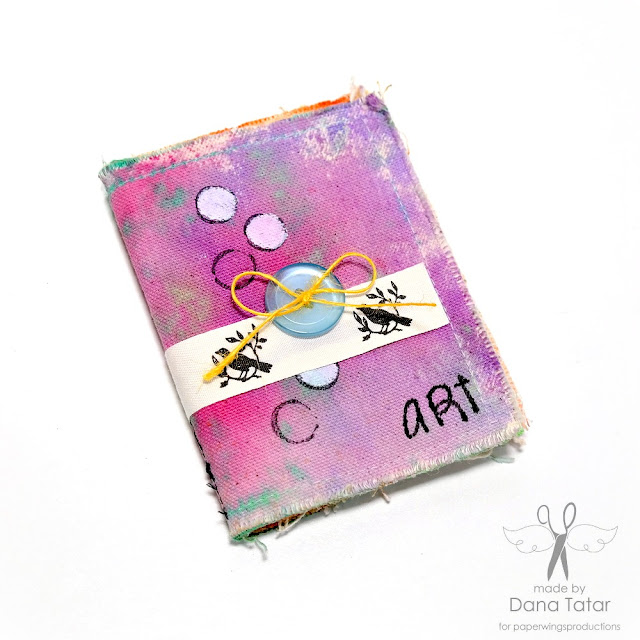 Art Canvas Mini Album by Dana Tatar for Paper Wings Productions