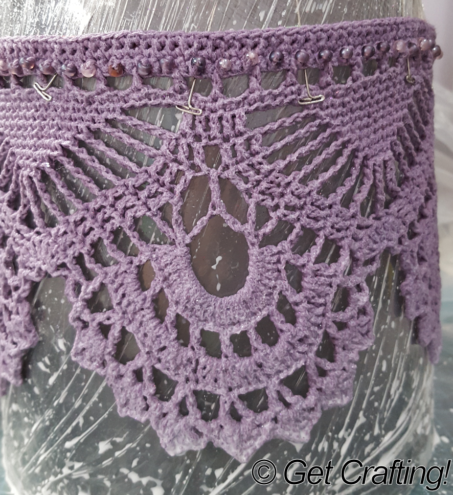 Crochet Blocking : Get Crafting!: How to block a crochet lace crown: Part 2