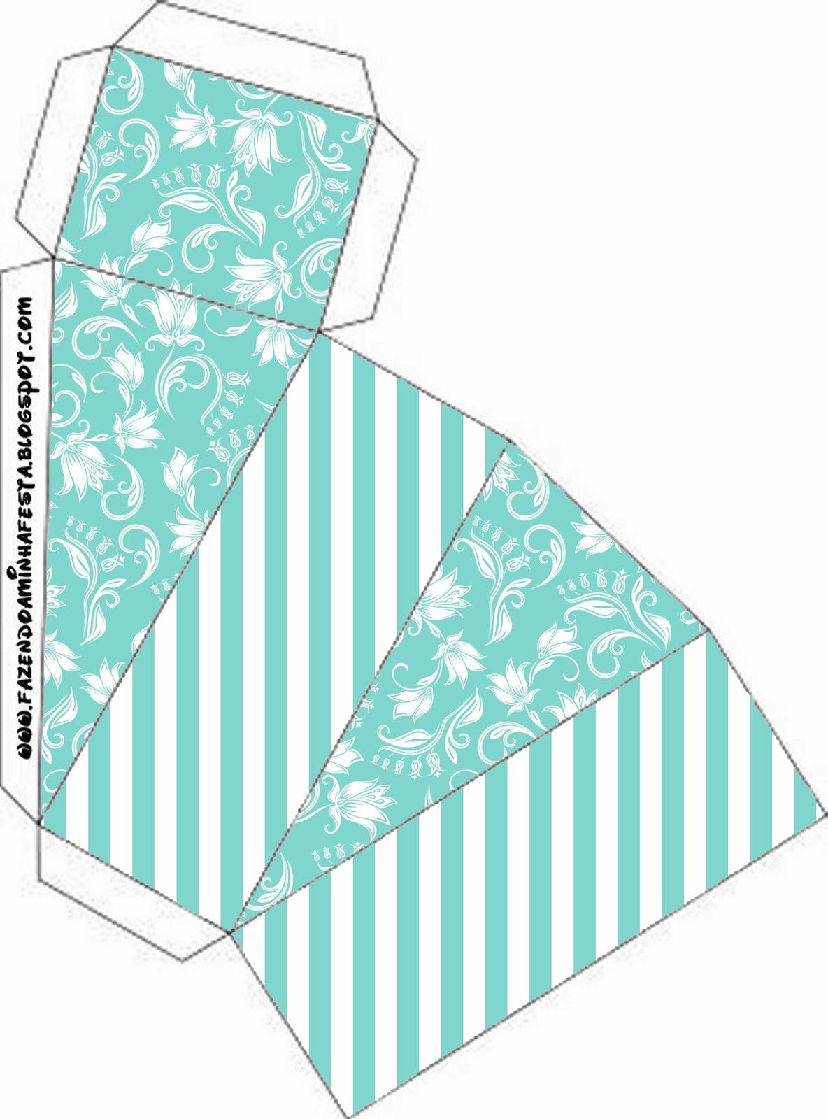 Fiesta Tiffany: Cajas para Imprimir Gratis.   Ideas y material ...